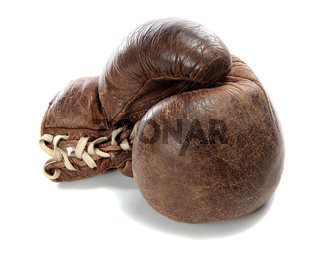 old brown boxing glove
