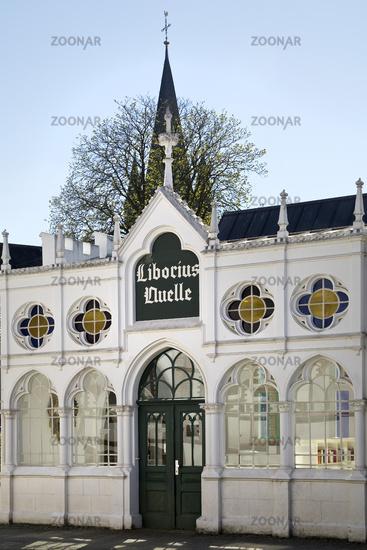 Well house of the Liborius source, Bad Lippspringe, North Rhine-Westphalia, Germany, Europe