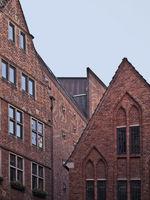 Historic Buildings at Boettcherstrasse, Germany
