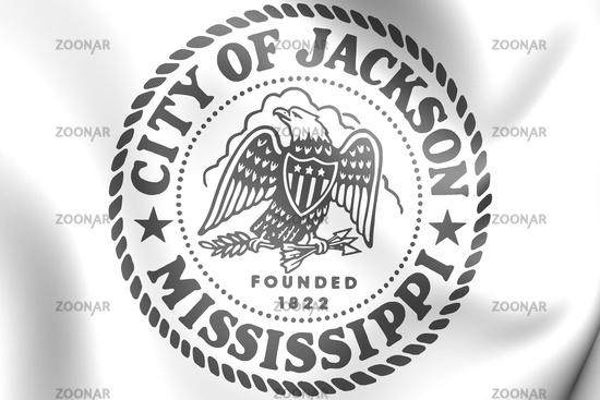 3D Seal of Jackson (Mississippi state), USA. 3D Illustration.