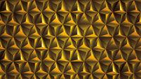 Golden 3d wall