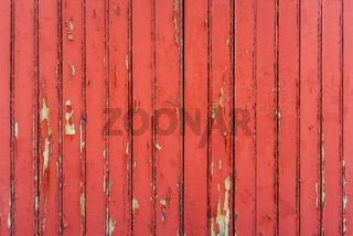 Red weathered wood wall
