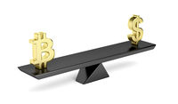 Bitcoin and US dollar on seesaw