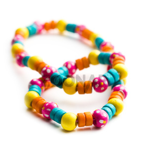 necklace with colorful beads