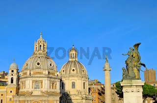Rom Kirchen und Trajanssaeule - Rome churches and Trajans Column 01