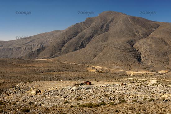 High plateau on Musandam peninsula, Oman