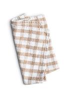 Checkered napkin isolated on white background.