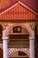 Rila monastery architectural details, Bulgaria