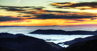 Inversion weather over the Rhine Valley