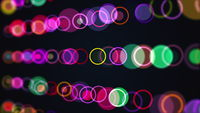 Rows of multi colored circles and rings
