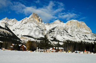 Kanadische Rocky Mountain im Winter