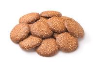 Pile of sesame seeds cookies