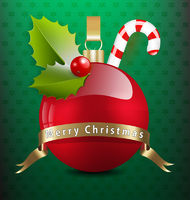 Christmas background with decor ornaments