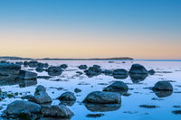 Vilm island seen from Wreechen beach on Ruegen