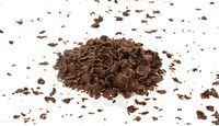 Chocolate stracciatella isolated on white background