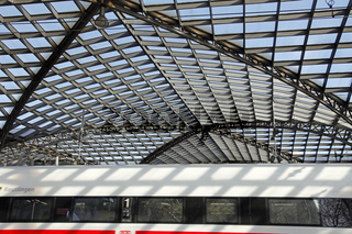 Denkmalgeschützte Bahnsteigüberdachung, Hauptbahnhof, Köln, Deutschland, Europa