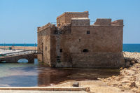 PAPHOS, CYPRUS, GREECE - JULY 22 : Old fort at Paphos Cyprus on July 22.