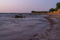 Evening at the Baltic Sea coast in Zierow, Mecklenburg-Western Pomerania, Germany
