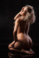 Young Nude Blonde Woman