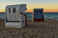 Evening at the Baltic Sea coast in Hohen Wieschendorf, Mecklenburg-Western Pomerania, Germany