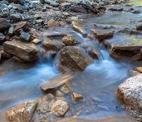 Bletterbach creek in Bletterbach gorge near Bozen, South Tyrol