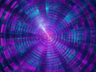 Technology blue and purple background - abstract 3d illustration