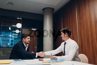 Job interview HR with business people talking on meeting at office. Human resources concept.
