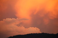 sundown and clouds
