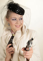 Woman with pistols