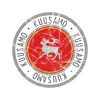 Kuusamo city postal rubber stamp