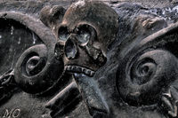 Spain: Death symbol in the Cathedral of Jaca