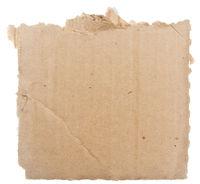 Cardboard on white