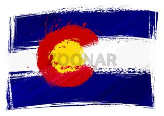 Grunge Colorado flag