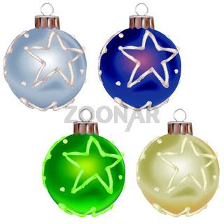 Christmas Balls With Star