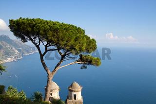 Amalfi coast as seen from Ravello