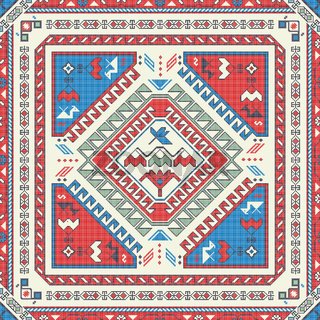 Georgian embroidery pattern 8