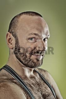 hairy man with beard