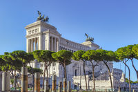 Classicist marble temple in honour of Italy's first king Vittorio Emanuele in Rome