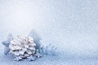 christmas card blue