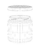 3D model of jar with cap