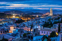 City of Girona at Blue Hour