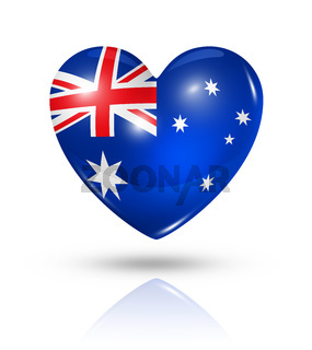 Love Australia, heart flag icon