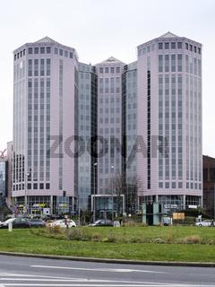 Gebaeude der Universitaet Duisburg-Essen, Berliner Platz, Essen, Ruhrgebiet, Nordrhein-Westfalen