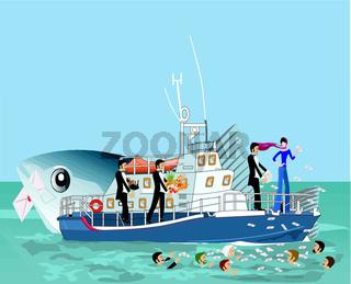 girl on ship