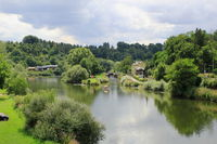 Idyllic River course near Runkel an der Lahn