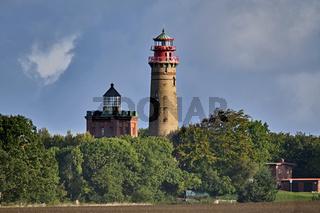 Die Leuchttürme am Kap Arkona auf der Insel Rügen.