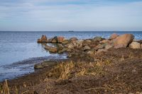 The Baltic Sea coast in Loissin, Mecklenburg-Western Pomerania, Germany
