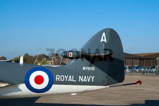 Tail of the Hawker Sea Hawk jet