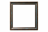 retro golden edge picture frame isolated