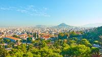 Panoramic view of Athens city.
